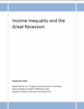 Income Inequality Report Cover